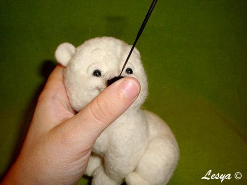 Мастер-класс по валянию игрушки медвежонка этап 45