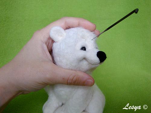 Мастер-класс по валянию игрушки медвежонка этап 47